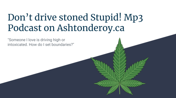 Don't drive stoned Stupid! Mp3 Podcast on Ashtonderoy.ca.png