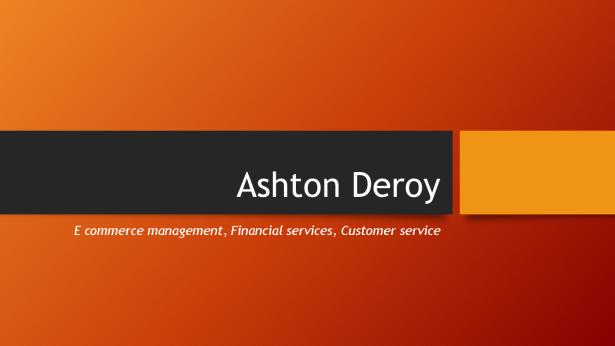 Ashton Deroy