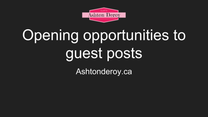Opening opportunities to guest posts