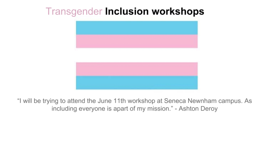 Transgender inclusion workshops