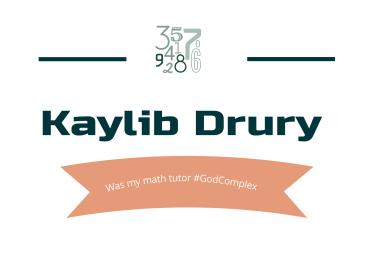 Kaylib Drury to people